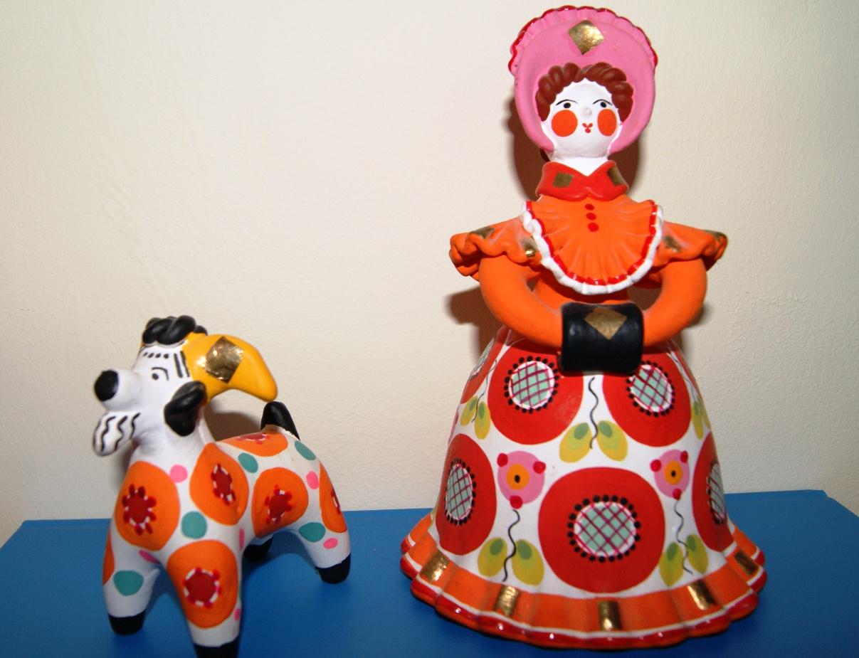 Дымковская игрушка : дымковская игрушка своими руками, мастер класс 61