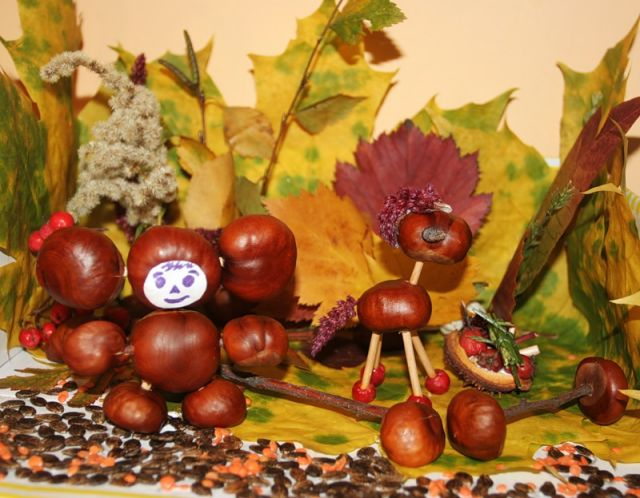 Осенние поделки из природного материала своими руками в садик